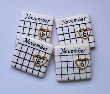 Save the date cookies Engagement cookies  Bridal by Scookies                                                                                                                                                                                 More