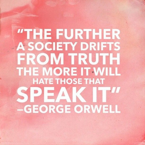 In today's social environment of the United States, this truth has never been so self evident. #speaktruth