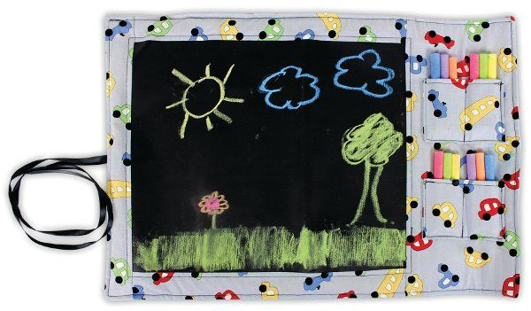 Chalk Fabric Travel Chalkboard by @Crafts Direct. Click through link for project instructions.