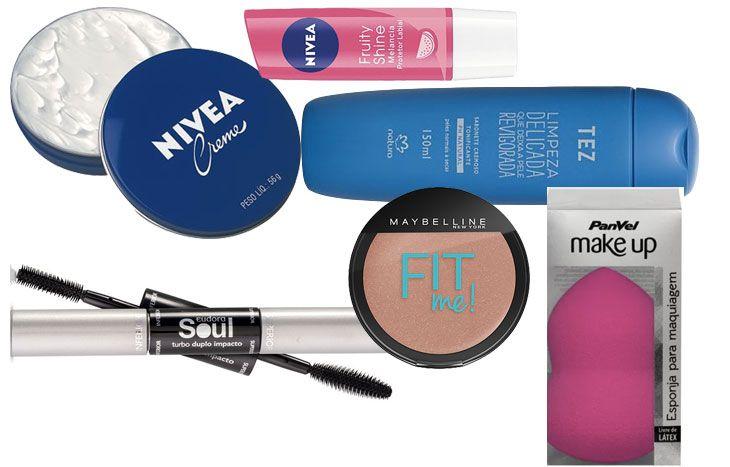 Maquiagem, cosméticos e opções para os cabelos: confira aqui uma lista com 20 produtos incríveis por até R$ 35 (ou seja, ótimo custo benefício!)