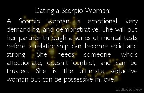 Dating scorpio female