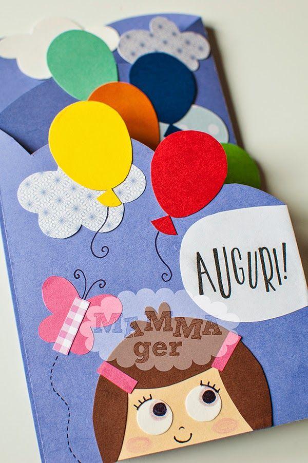 MAMMAger: Biglietto di compleanno con palloncini colorati