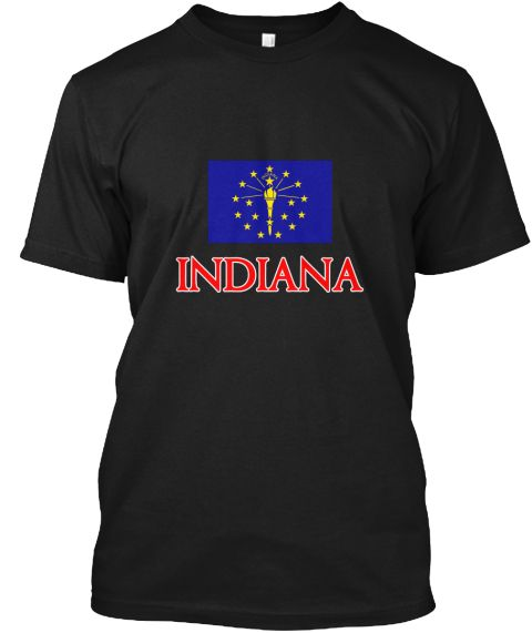 Indiana Flag Design Black T-Shirt Front - This is the perfect gift for someone who loves Indiana. Thank you for visiting my page (Related terms: Flag Indiana,I Heart Indiana,Indiana,Indiana,Indiana Travel,I Love My Country,Indiana Flag, Indiana  #Indiana, #Indianashirts...)