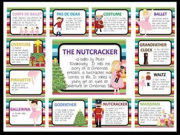 Nutcracker Vocabulary Bulletin Board Kit  Beautiful and bright bulletin board that teaches vocabulary from The Nutcracker