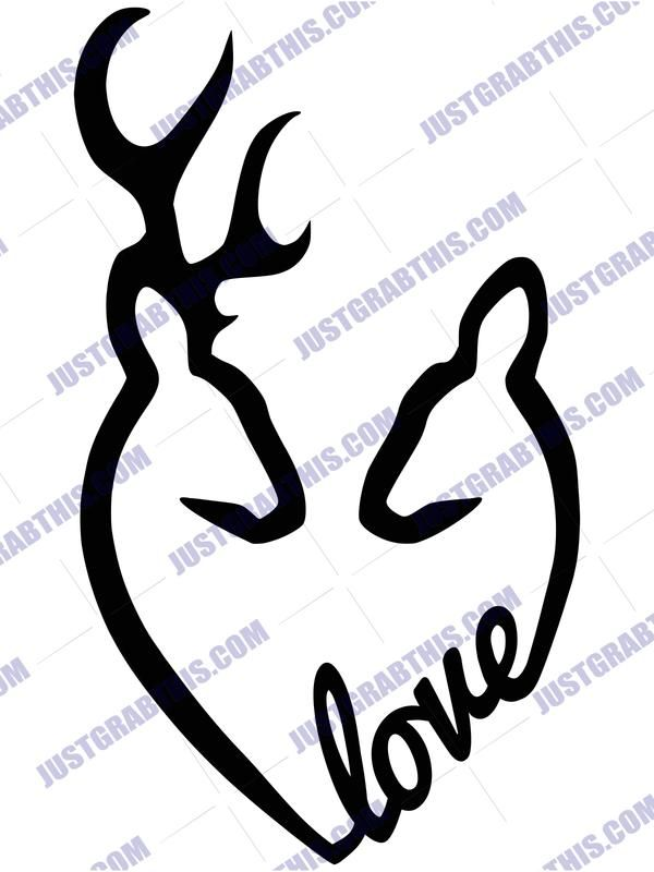 Download Free Svg Files Deer Love SVG Files For Silhouette, Files ...