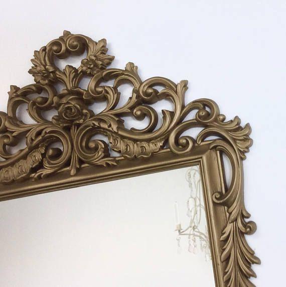 Decorative Vintage Mirrors For Sale 31 X19 Baroque Gold Syroco Mirror Vanity Gold Mirror Wall Decor Ornate D Gold Mirror Wall Mirrors For Sale Vintage Mirrors