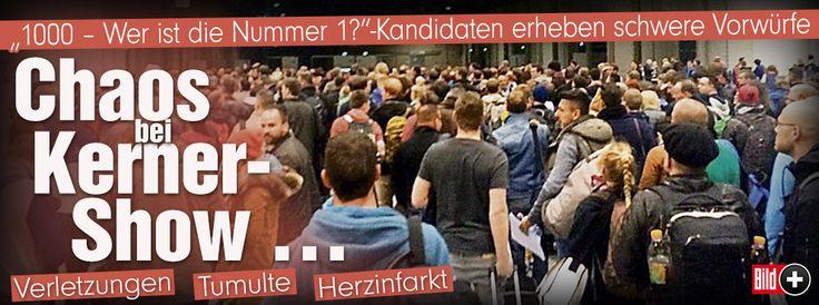 """Chaos bei ZDF-Show """"1000 – Wer ist die Nummer 1?"""" mit Johannes B. Kerner http://www.bild.de/bild-plus/unterhaltung/tv/johannes-b-kerner/trotz-chaos-moderator-behielt-kuehlen-kopf-40625248,var=a,view=conversionToLogin.bild.html"""
