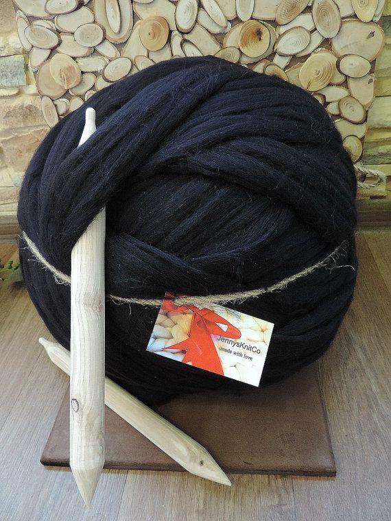 Merino Wool Chunky Yarn Super Chunky Yarn Giant by JennysKnitCo