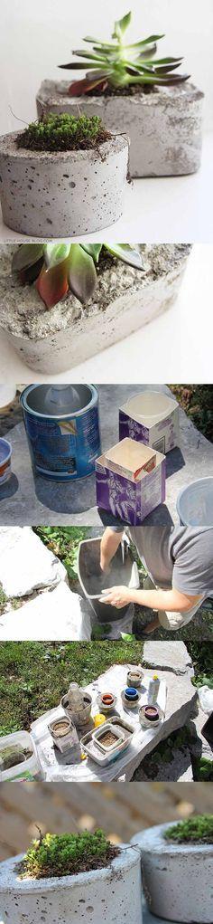 macetas de hormigón DIY ingenioso 1