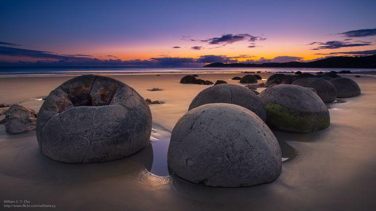 Камни Moeraki, пляж Koekohe, #'Новая Зеландия', moeraki bolders new zealand