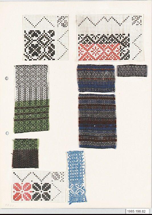 motif textile allemand : Margarete Willers, archives du Bauhaus, papier millimétré