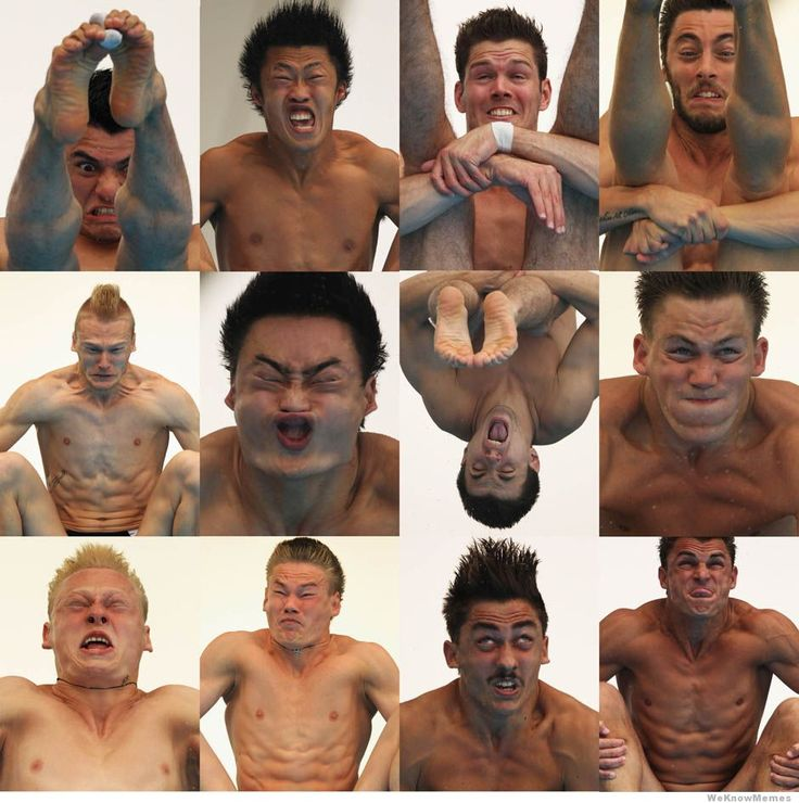 Olympic divers, mid-dive - cant stop laughing!!