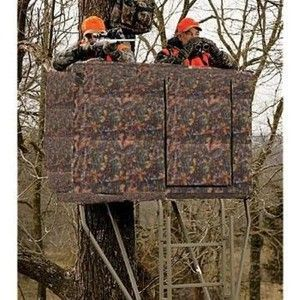 New Camo Deer Hunting Blind For 2 Man Ladder Tree Stand