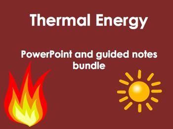 Powerpoint covers thermal energy transfer (conduction, convection, and radiation) thermal expansion and contraction, and thermal insulators and conductors.