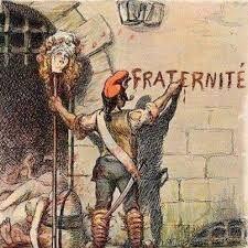 Caricatura del Terror. Intenta mostrar como se pervirtieron los principios de la Revolución