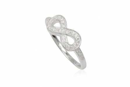 INFINITE CRYSTAL silver ring with cubic zirconia for women
