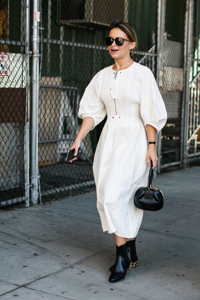 Street style at Fashion Week spring-summer 2017 New York Photos by Sandra…