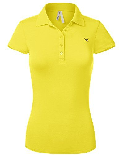 Womens XS Yellow Polo Shirt