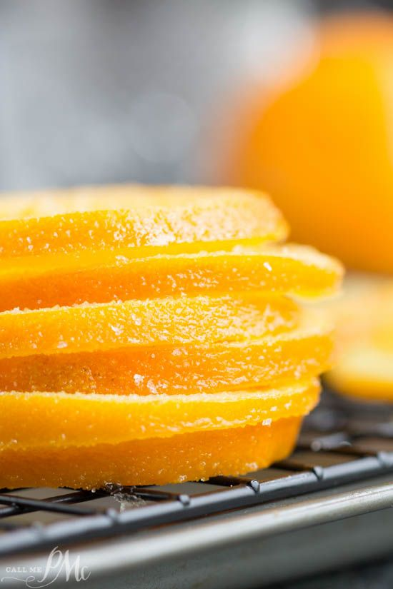 Candied Orange Slices are chewy and sweet. They make a beautiful garnish for cakes and drinks. Or, simple dip them in chocolate for an easy dessert treat