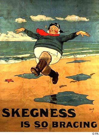 The Jolly Fisherman was first used to promote the virtues of Skegness in 1908. He appeared on a railway poster and has since become synonymous with the famous coastal resort.