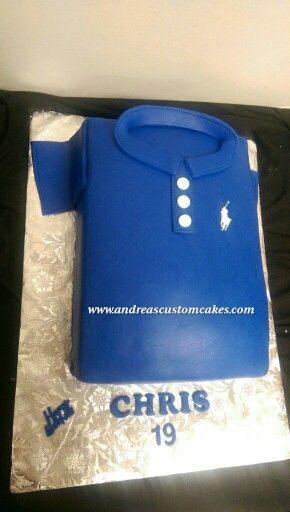 Best Polo Shirt Cakes Images On Pinterest Polo Shirt Shirt - Birthday cake shirt