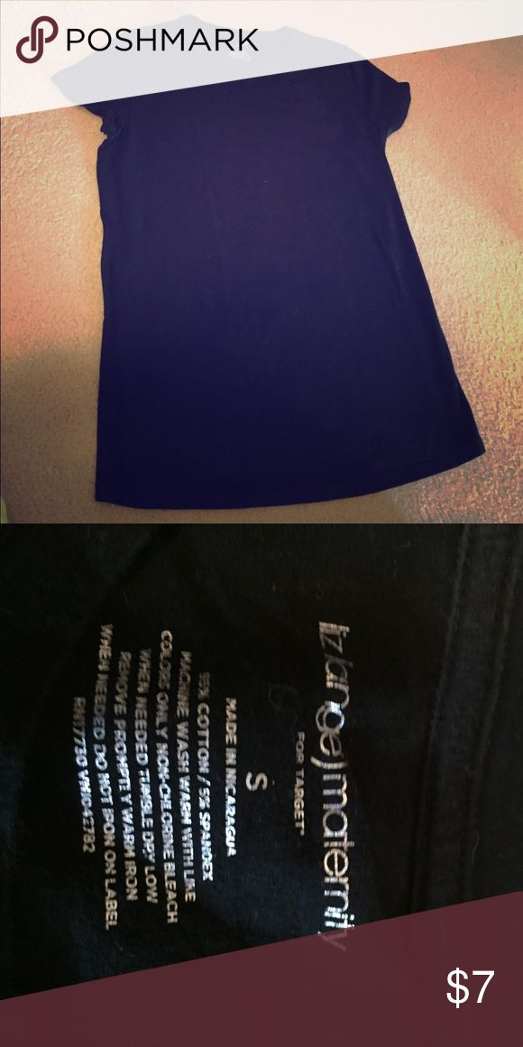 Women's maternity tee Women's maternity black short sleeve tee. No flaws perfect condition, only worn once. Tops Tees - Short Sleeve