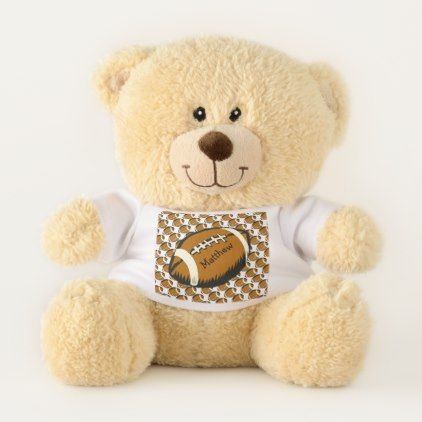 Brown Football Teddy Bear - diy cyo personalize design idea new special custom