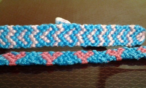 I wanted to make heart pattern braclet