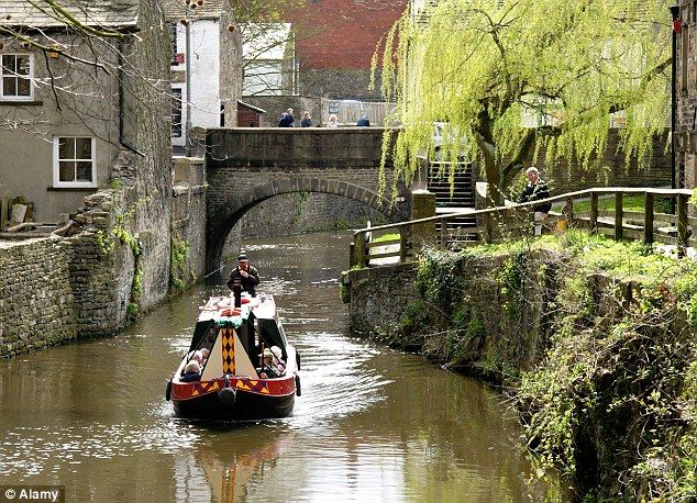 Canal boat: Skipton's 'buzzing' high street dominated by independent shops was noted, along with its pretty and reasonably priced property