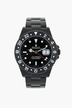 Black Limited Edition Matte Black Limited Edition Rolex Gmt Master Ii for men | SSENSE