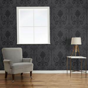 Josette Dark Charcoal Wallpaper