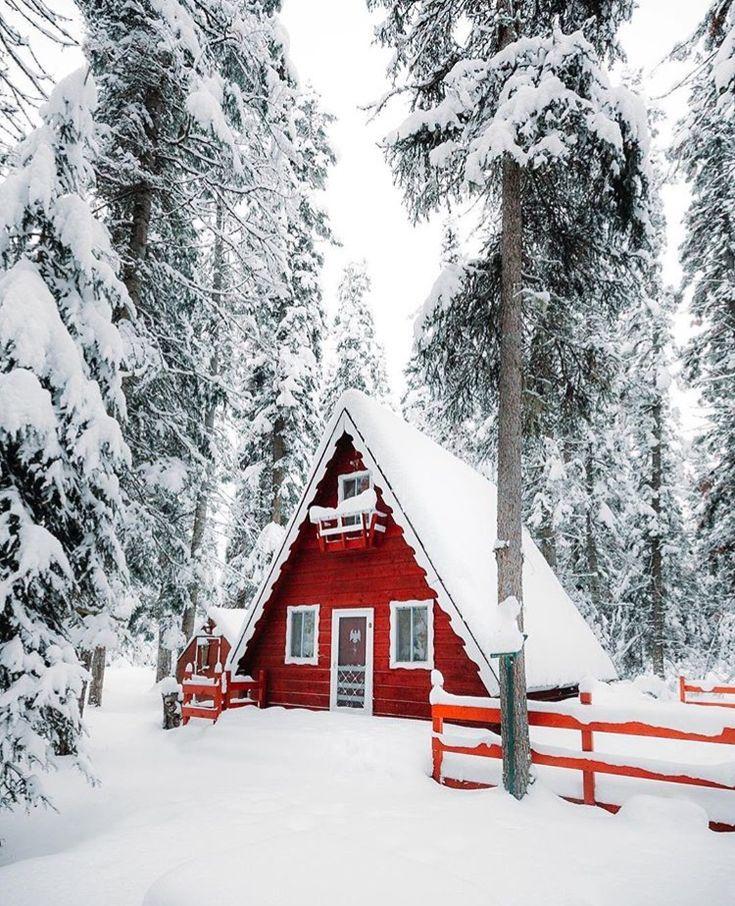Картинки домик лес зима