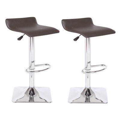 U.S. Pride Furniture Dylan Adjustable Swivel Bar Stool - Set of 2 Chocolate - BS8031-CH
