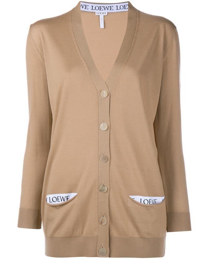LOEWE Wool Logo Cardigan. #loewe #cloth #