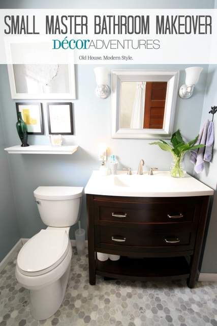 Everyone has a small bathroom right? Here's how to turn it into a bright and modern space even if it's tight on room.