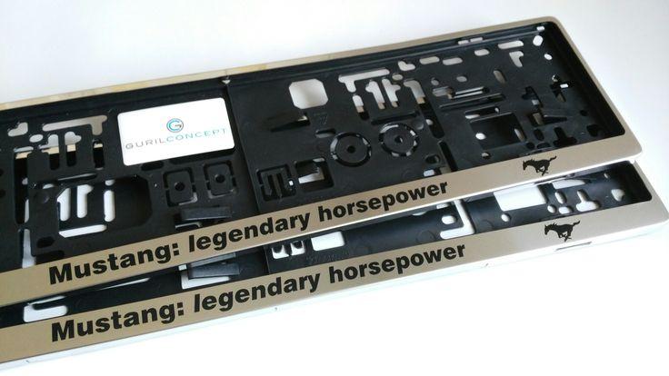 Edelstahl #Kennzeichenhalter individuell bedruckt nach Kundenwunsch. *Mustang: legendary horsepower* personalierte kennzeichenhalter für kfz Kennzeichen bekommst du im Online-Shop