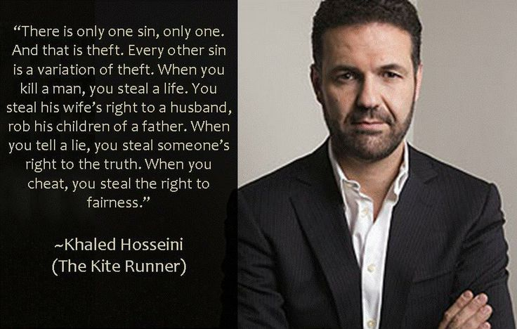"""All time favorite quote of """"The Kite Runner"""" by Khaled Hosseini."""