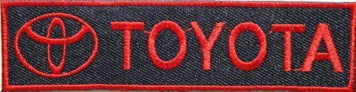TOYOTA Motor Logo Sportcar Racing Patch Iron on Applique Embroidered T shirt Jacket Cloth Costume Gift BY SURAPAN