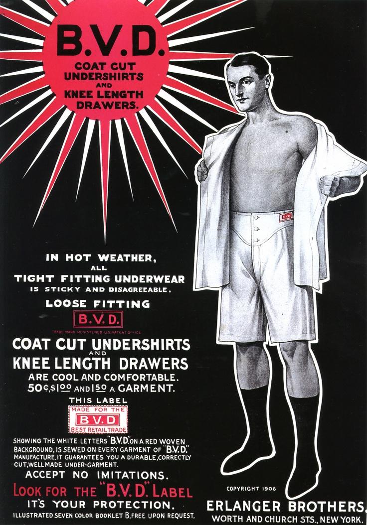 BVD Underwear Ad, 1906
