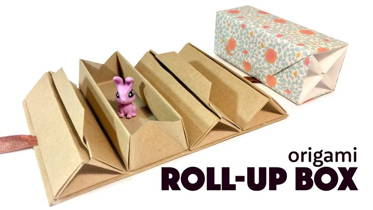 Origami Roll Up Box Tutorial DIY Accordion Box Paper Kawaii #origami #paperkawaii