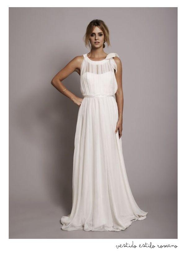vestido de novia, estilo romano #boda #romana #vestido #novia