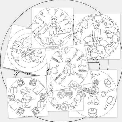 Mandalas de oficios para colorear