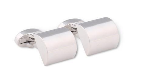 Hardy Amies brushed silver square cufflinks.  #Dapper #Gentleman #Men #Menswear #BritishTailoring #Suit #SlimFit #Shirt #Tailored #Vintage #Class #Streetstyle #Classic #Classy #HardyAmies #LondonStyle #ModernMan