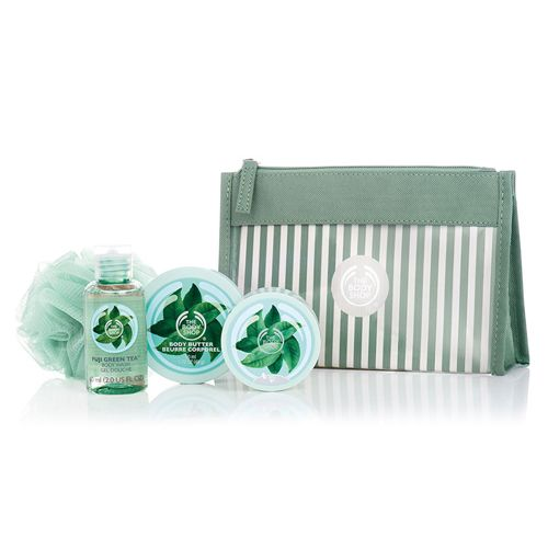Make someone feel beautiful from head to toe this festive season with The Body Shop's sweet Fuji Green Tea™ set. Filled with fresh-scented treats blended with the essence of pure, hand-picked green tea leaves from Mount Fuji, Japan, holiday gifts don't get much more indulgent! Includes Mini Fuji Green Tea™ Shower Gel, Mini Fuji Green Tea™ Body Butter, & Mini Fuji Green Tea™ Body Scrub.