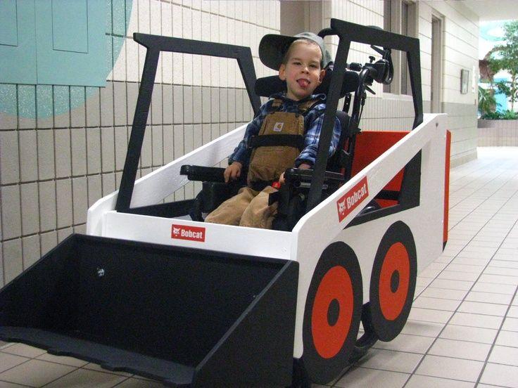 Bobcat: wheelchair costume