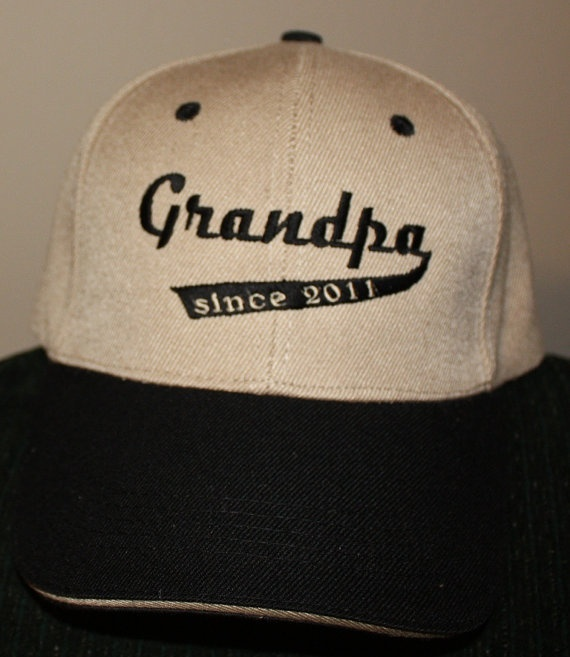 Grandpa since 2011 Custom Embroidered Baseball by Babies2Bowwows, $11.75