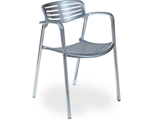 Toledo Stacking Chair. Designed by Jorge Pensi, 1988. Polished Aluminum.
