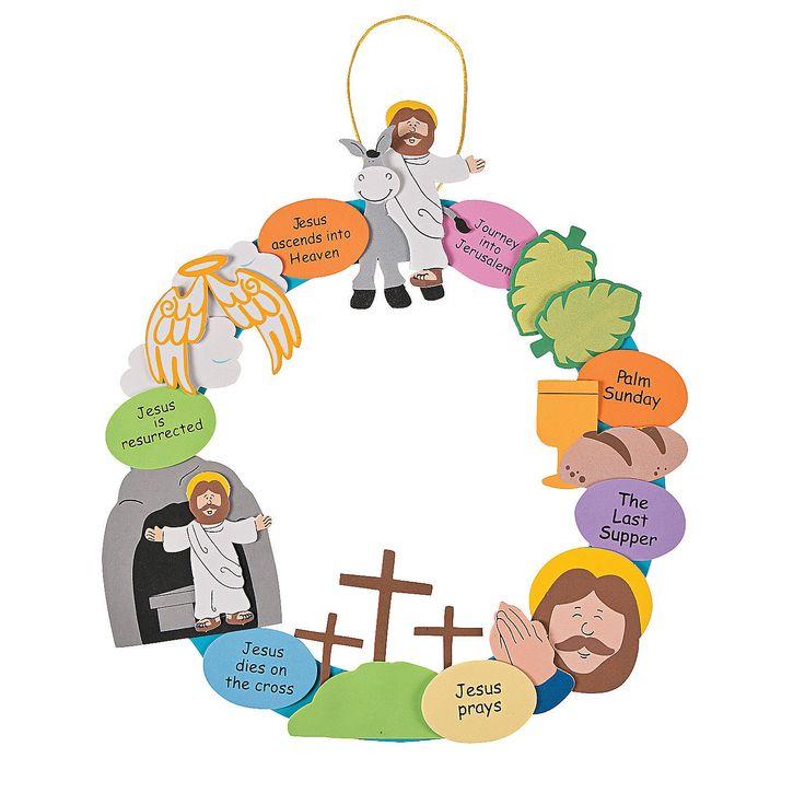 Religious+Easter+Wreath+Craft+Kit+-+OrientalTrading.com