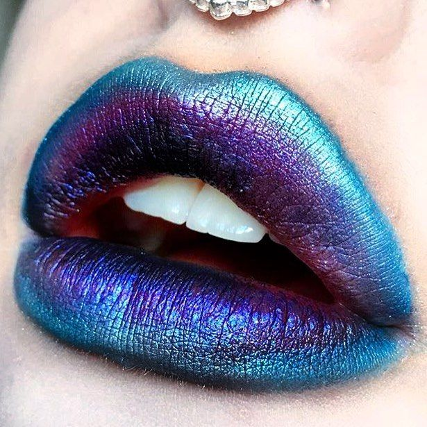 ☼✦ Pinterest: dopethemesz ; oil slick, holographic dreams ; lips ✦☼