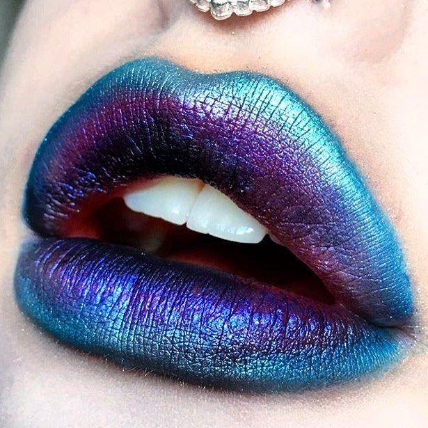 ☼✦ Pinterest: dopethemesz ; oil slick, holographic dreams ; lips ✦☼